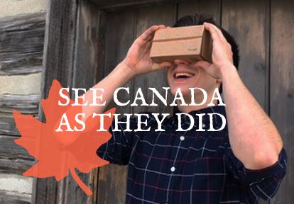 Visitor to Black Creek uses Pioneer Vision virtual reality app