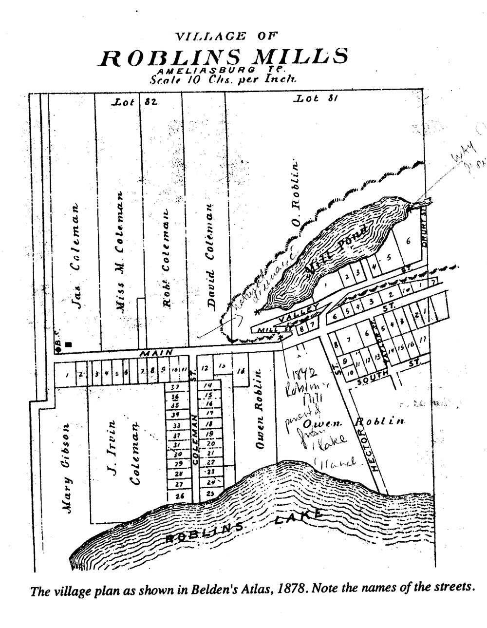 Village of Roblins Mills map