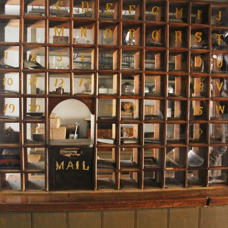 post office inside Laskay Emporium at Black Creek Pioneer Village