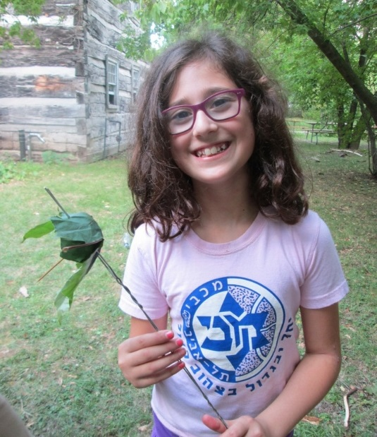 Girl explores Black Creek Pioneer Village Guides and Scouts Day