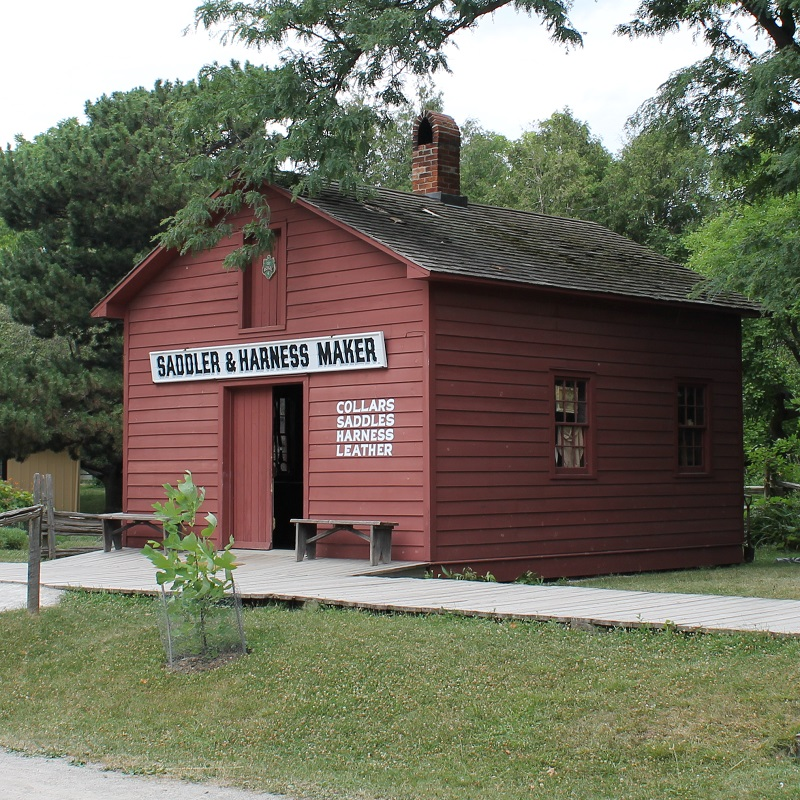 saddle and harness makers shop at Black Creek Pioneer Village