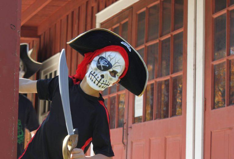Dressed up in costumen for Halloween at Black Creek Pioneer Village