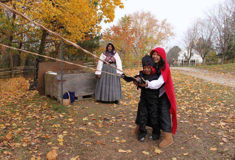 An apple slingshot at The Village