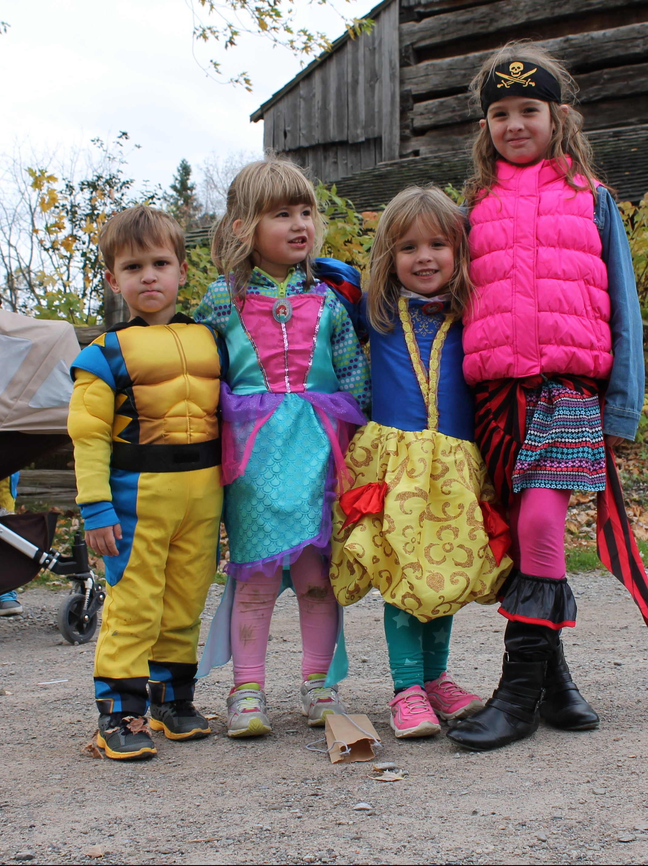 Kids in Halloween costume at Black Creek Pioneer Village