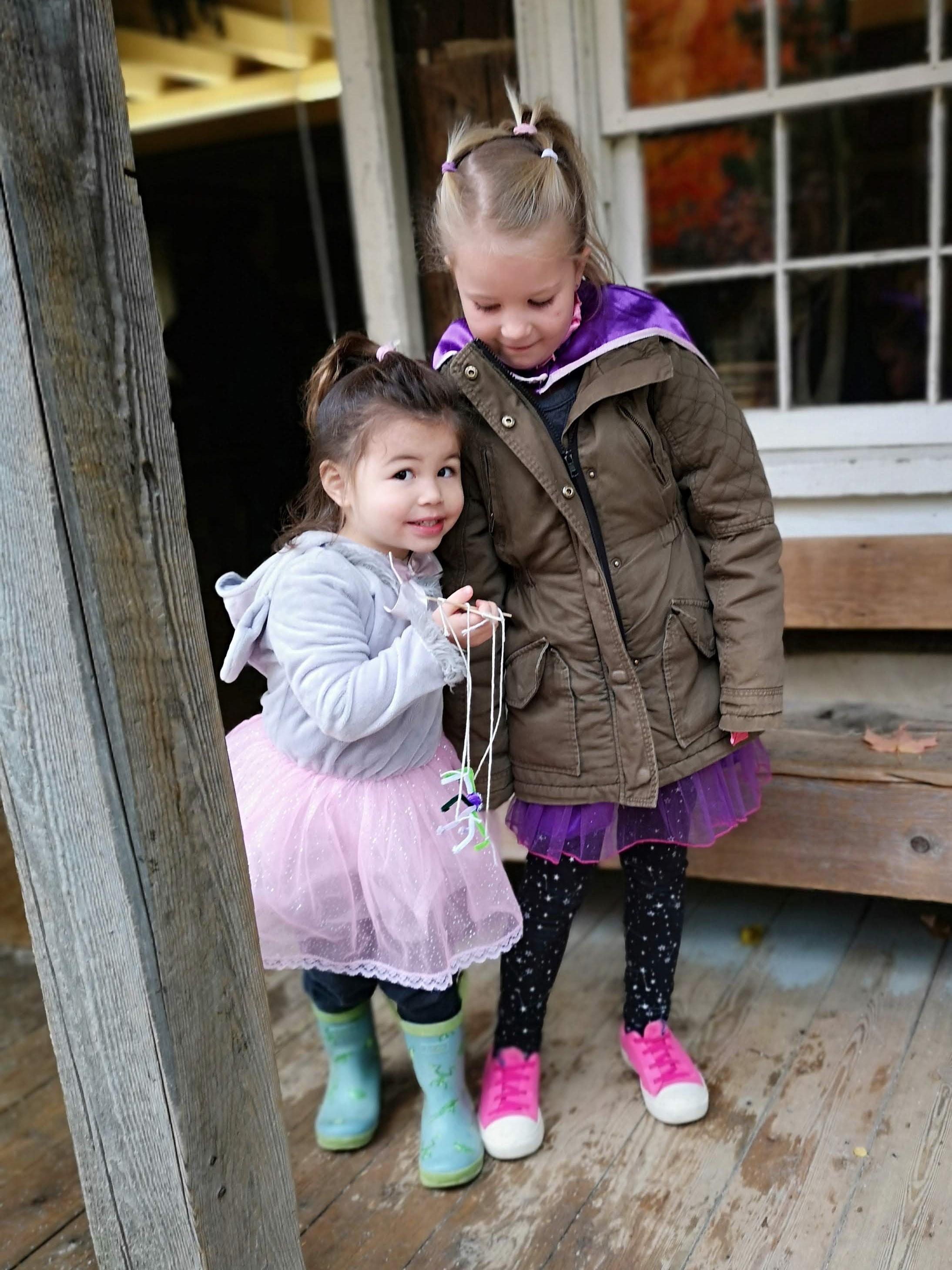 Kids with crafts at Black Creek Pioneer Village