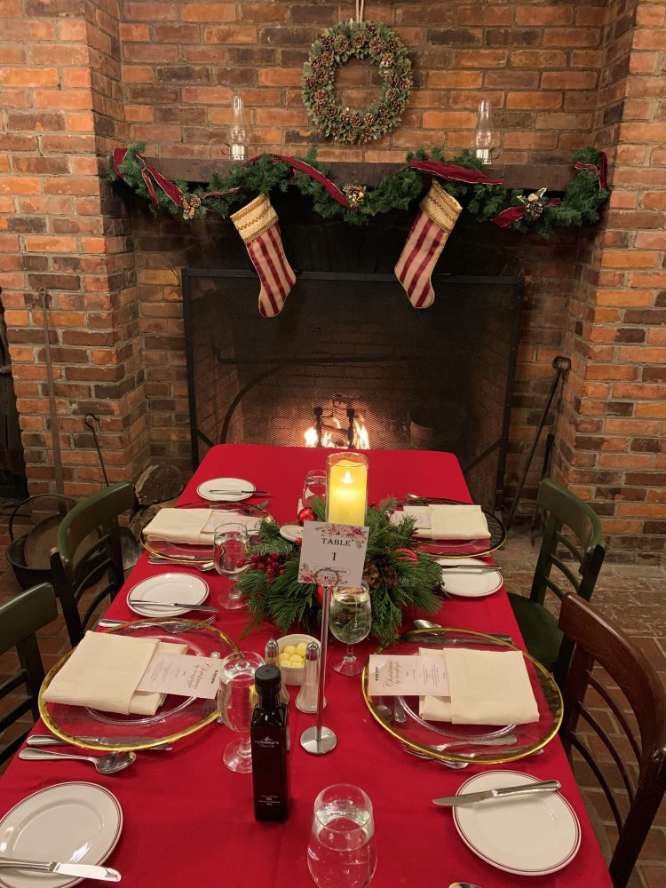 The Christmas dining room