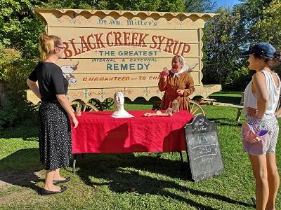 old fashioned medicine wagon at Black Creek fall fair