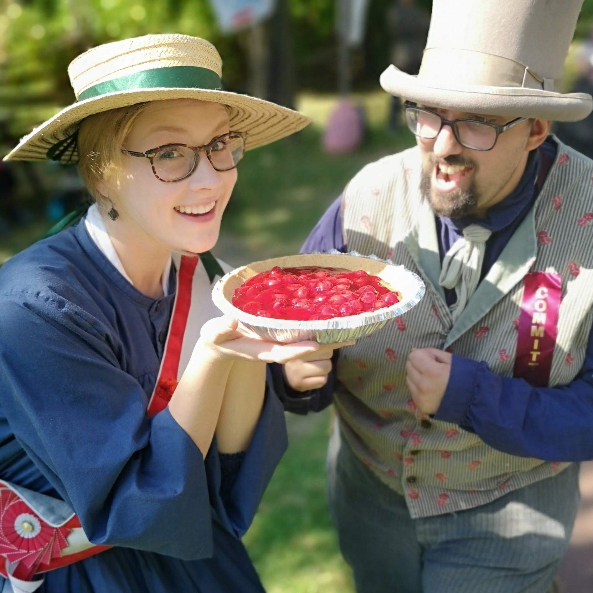 Pie eating pioneers
