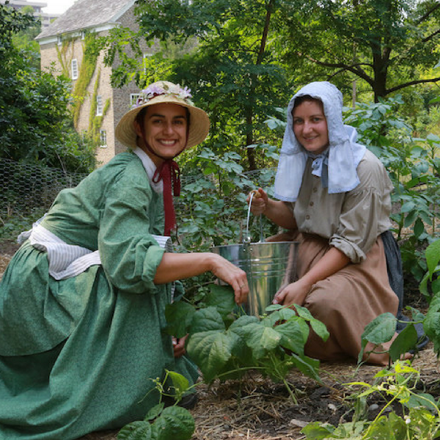Pioneer gardeners in the garden at The Village.