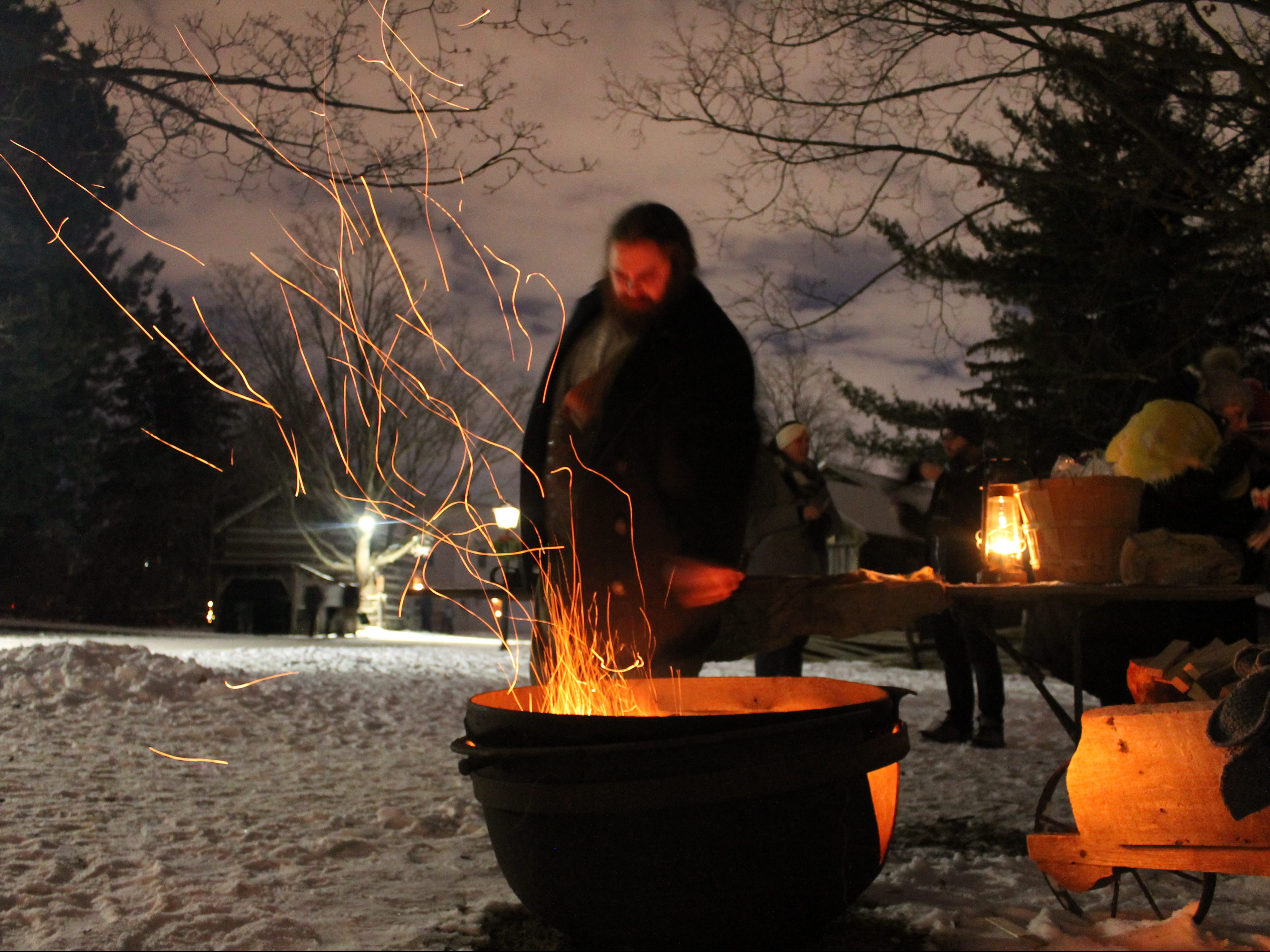 A fire pit for roasting chestnuts