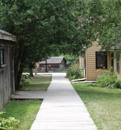 path between buildings at Black Creek Village