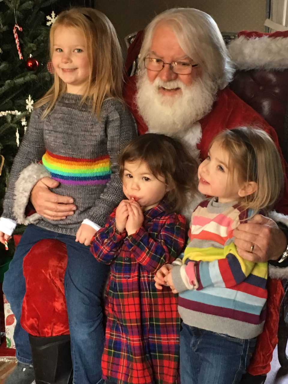 Kids with Santa Clause