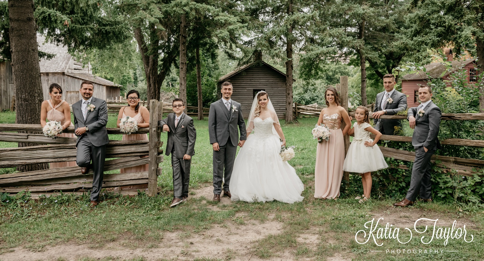 wedding party photographed at Black Creek Pioneer Village