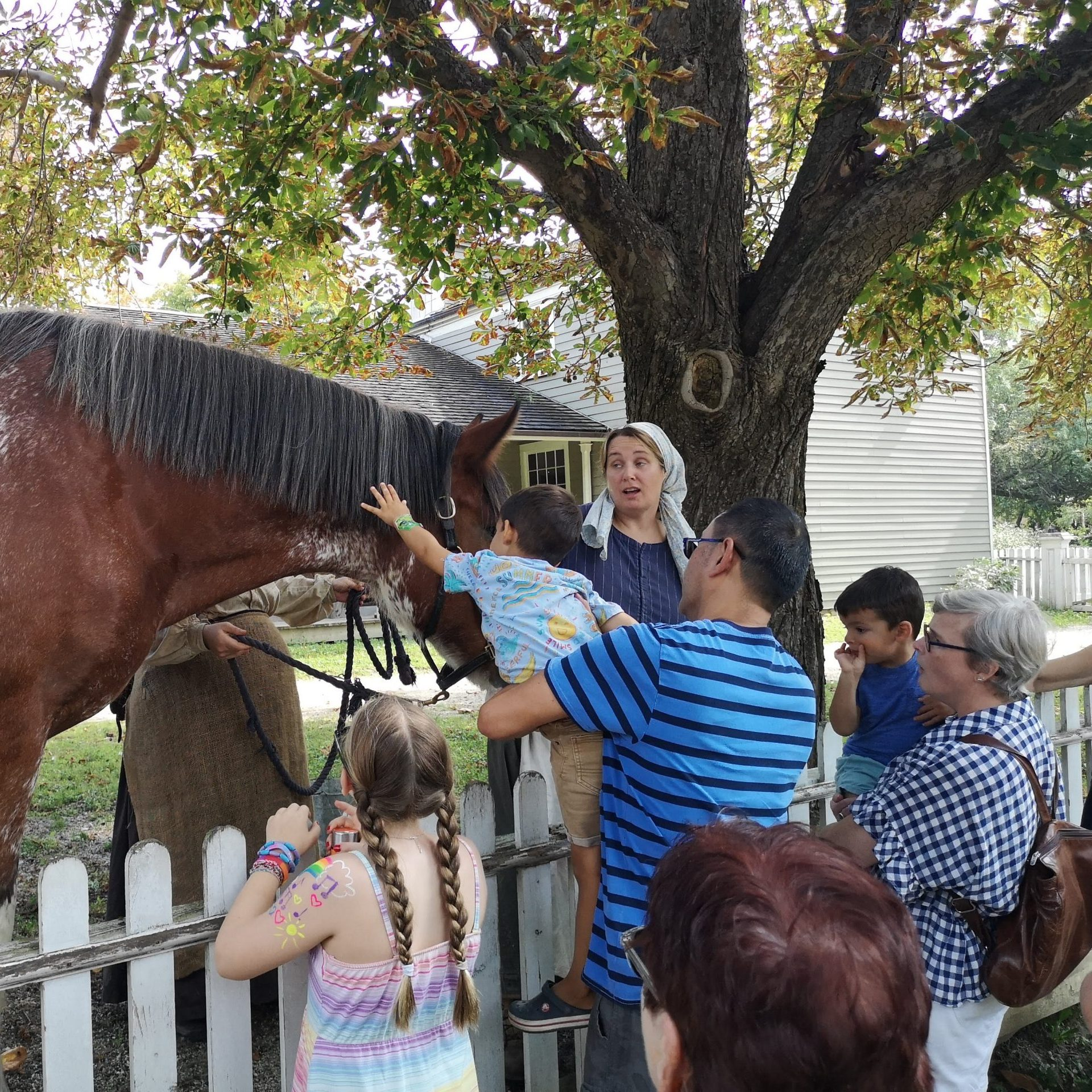 People with a horse
