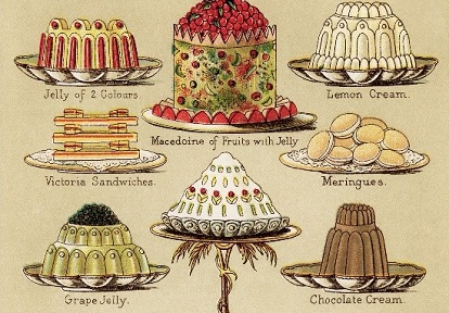 page from Victorian cookbook