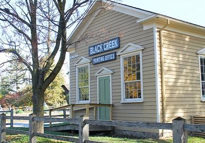 printing office at Black Creek Pioneer Village