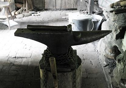 anvil in Blacksmith shop at Black Creek Pioneer Village