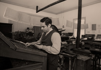 typesetter works in printing office