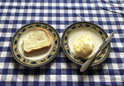 bread with homemade butter
