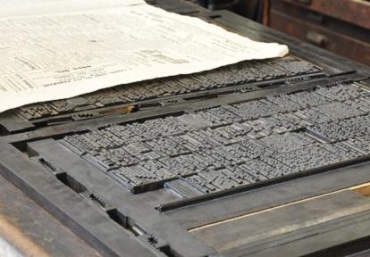 19th century printing press