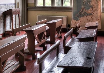 classroom of one-room schoolhouse