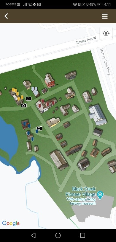 screen capture of Access Black Creek map