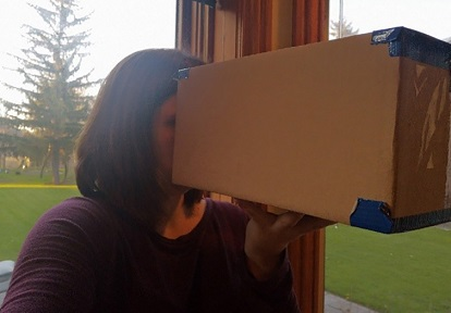 crafter experiments with homemade camera obscura