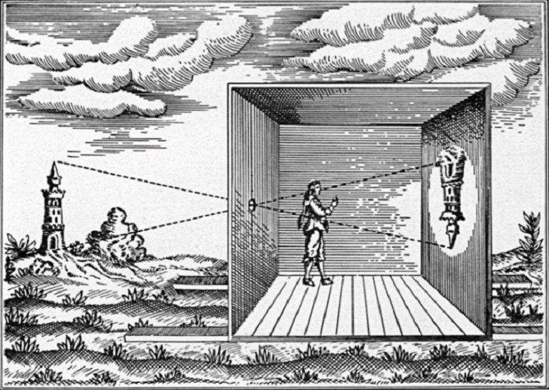 illustration of camera obscura