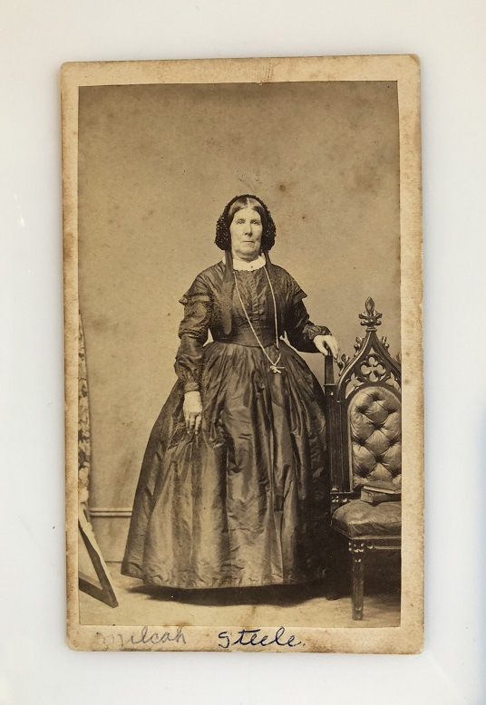 19th century carte-de-visite featuring portrait of older woman