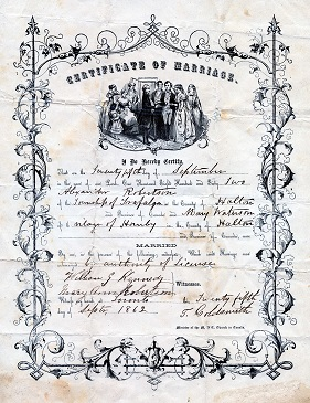marriage certificate from 1886