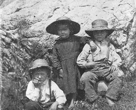 archival photograph of farm children in 1860s