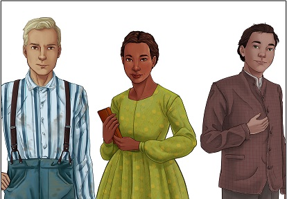 illustration of Class of 67 characters