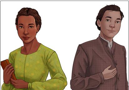 illustration of Ruth Barrow and Hugh McNair