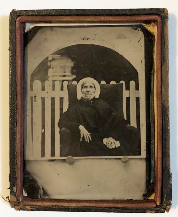 19th century tintype of an elderly woman