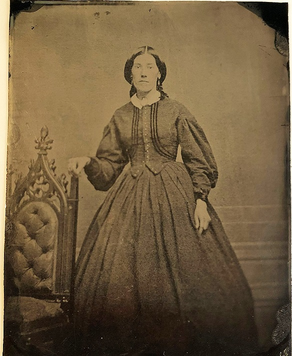 19th century tintype of a young woman