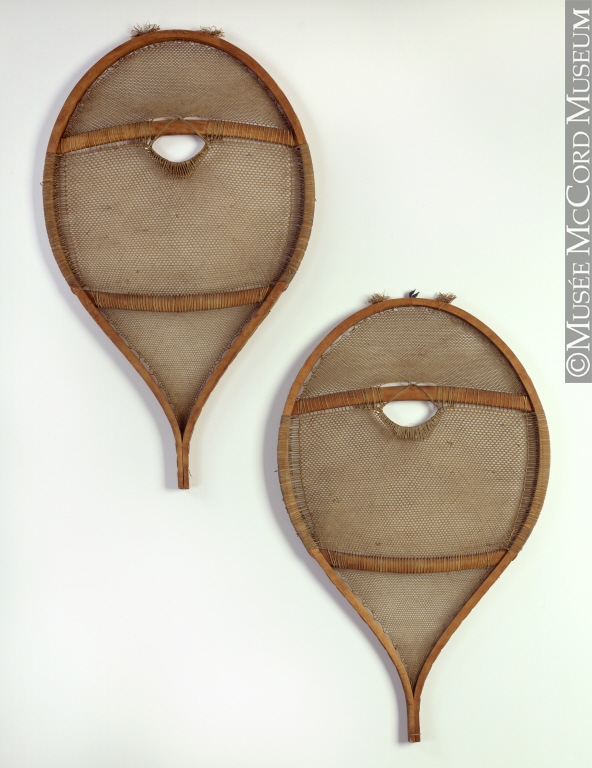 Innu snow shoes from the McCord Museum collection