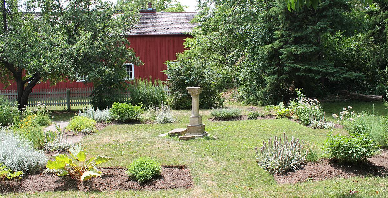 doctors house garden at Black Creek Pioneer Village