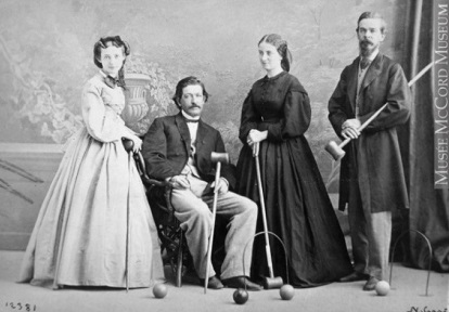19th century croquet players