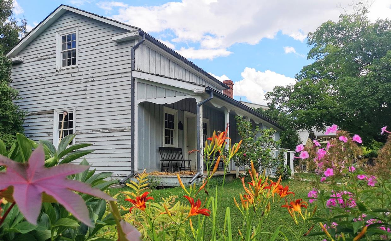 garden next to Mackenzie House at Black Creek Pioneer Village