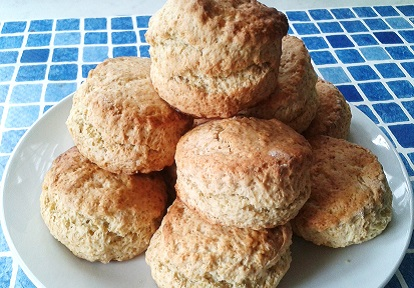 a plate of scones