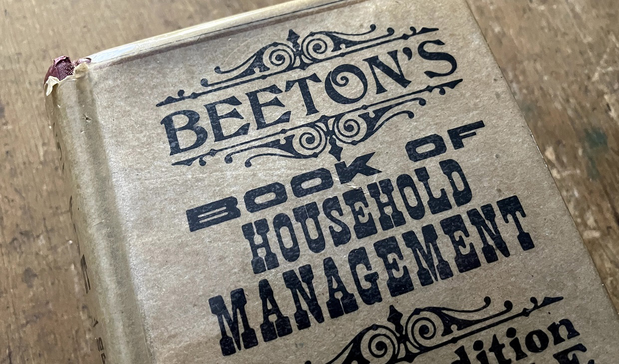copy of Mrs Beetons Book of Household Management from the collection at Black Creek Pioneer Village