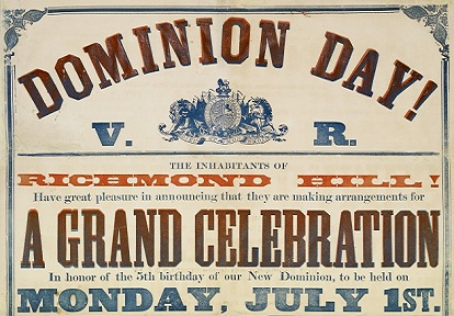 poster for 1867 Dominion Day celebration