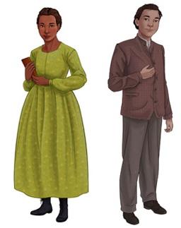 Black Creek Pioneer Village Class of 67 characters Ruth Barrow and Hugh McNair