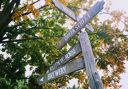 wooden street sign at Black Creek Pioneer Village