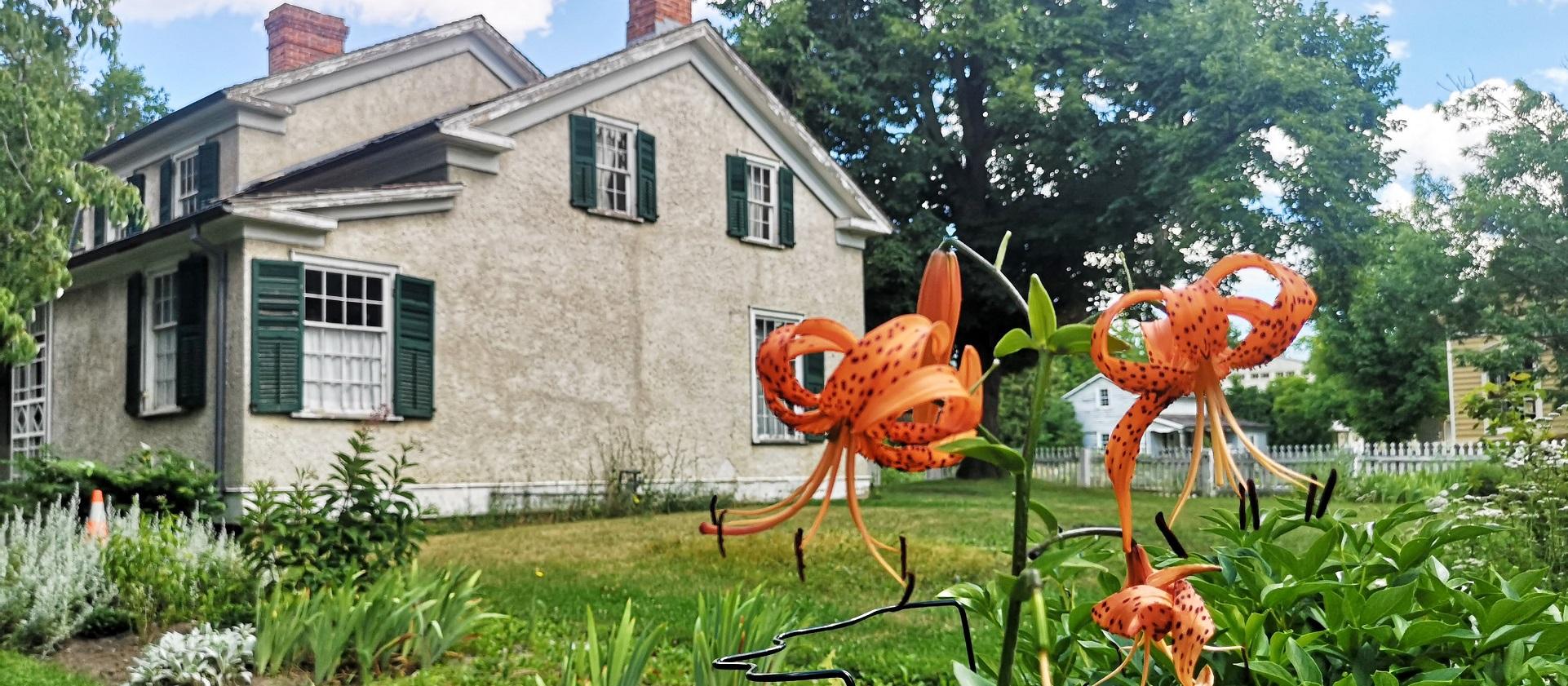 historic home and garden at Black Creek Pioneer Village