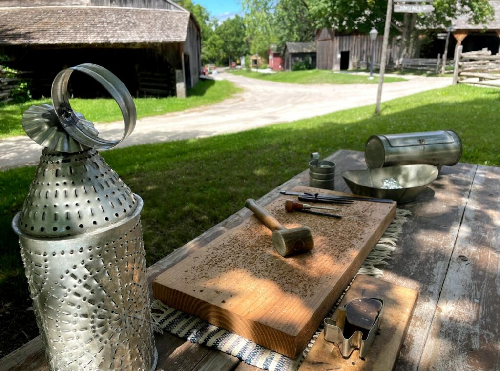 Tools for making tin crafts