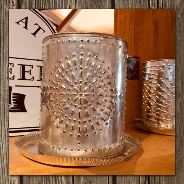 hand crafted tin cup