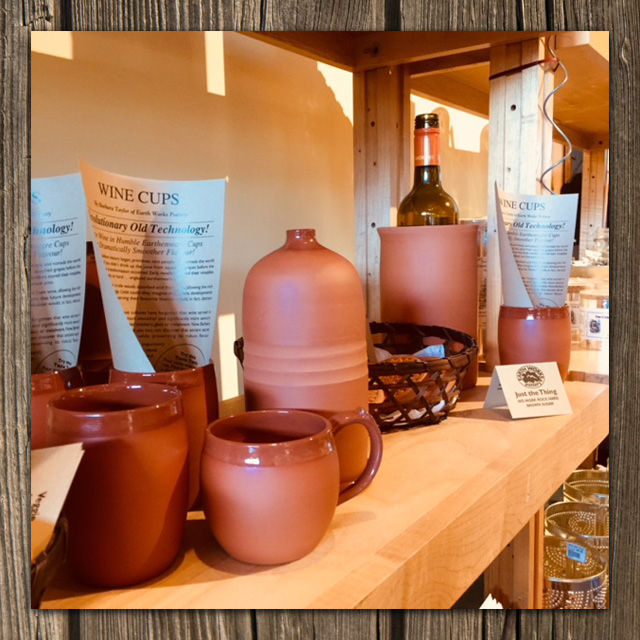 clay wine cups