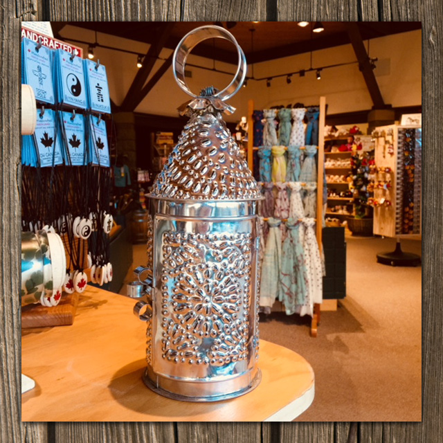 hand crafted tin lantern