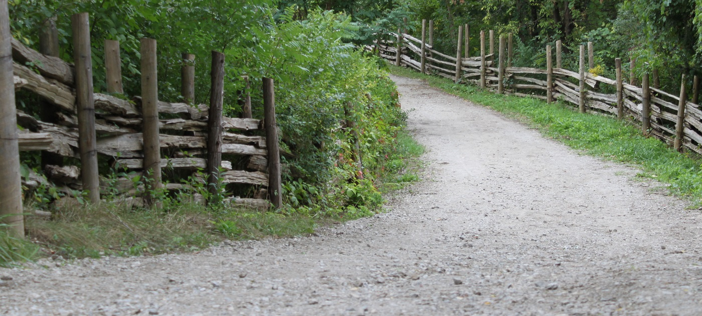 gravel road at Black Creek Pioneer Village